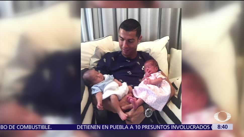 noticias, televisa, Cristiano Ronaldo, mellizos, recién nacidos, Facebook