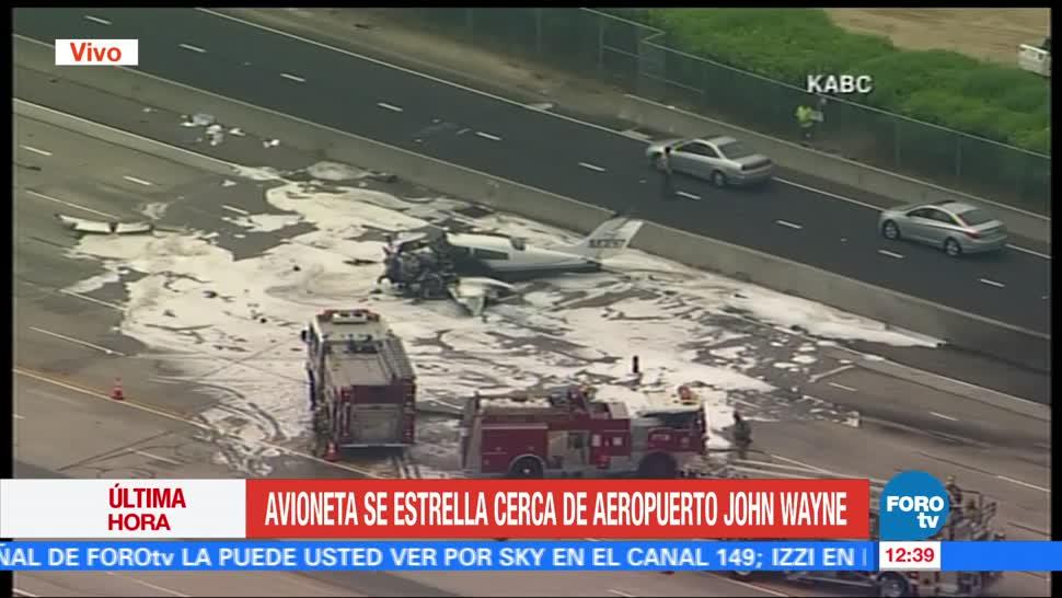 California, Estados Unidos, avioneta tipo Cessna, aeropuerto John Wayne