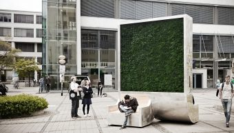 contaminacion del aire, arboles sinteticos, contaminacion, citytree, ciudades, urbanas, musgo
