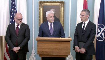El primer ministro de montenegro anuncia integracion de la otan