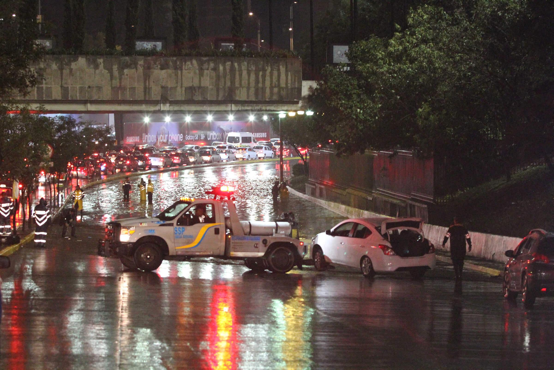 inundación, autos, lluvias, encharcamiento, vehículo, carros