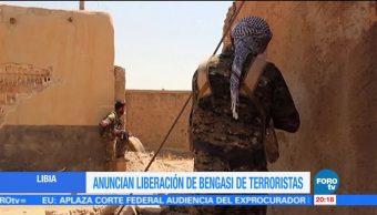Anuncian, liberación, Bengasi, terrorismo, conflictos, armados