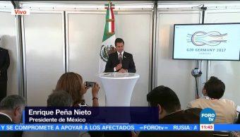 Enrique Peña Nieto EPN, participación de México, Cumbre G20, libre comercio