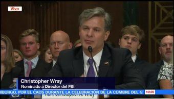 Comparece en el Senado, dirigir el FBI, Christian Wray