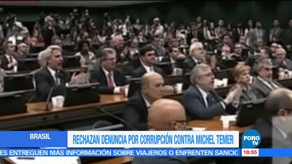 Rechaza, denuncia, corrupción, Michel Temer, Presidente, Brasil