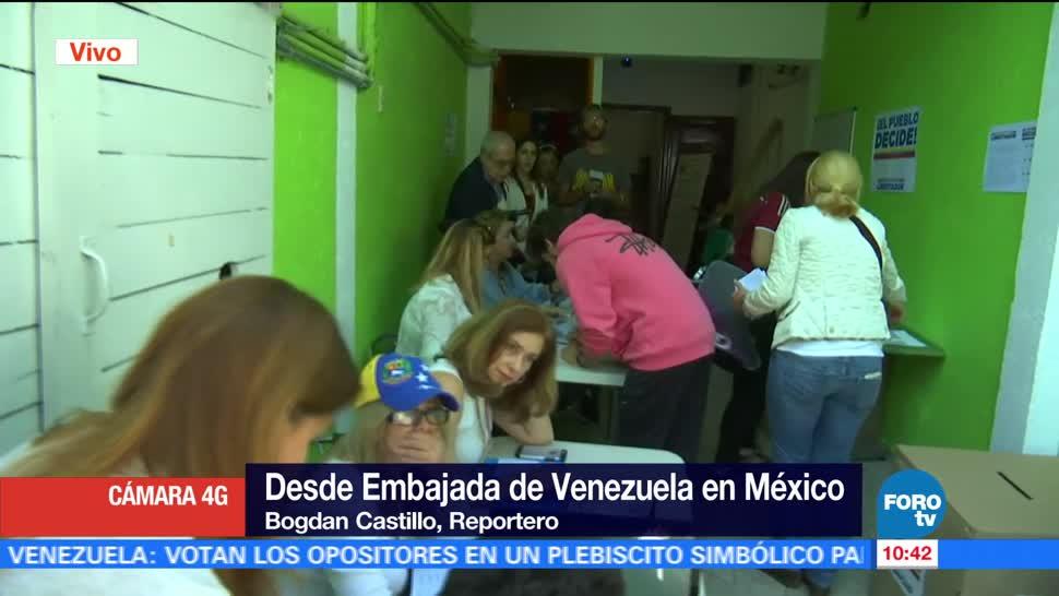 grupo de venezolanos, México, consulta simbólica, Maduro