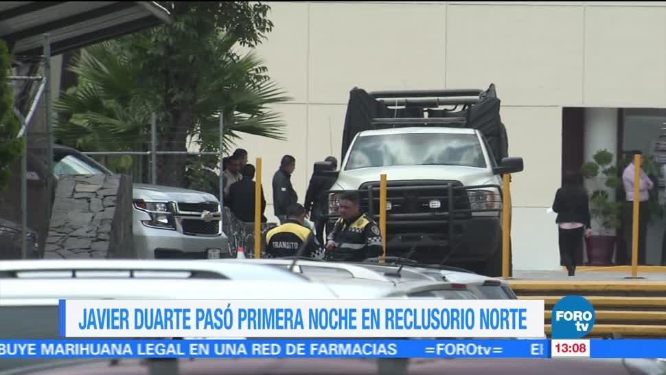 Javier Duarte, espera audiencia, vinculado a proceso, Reclusorio Norte