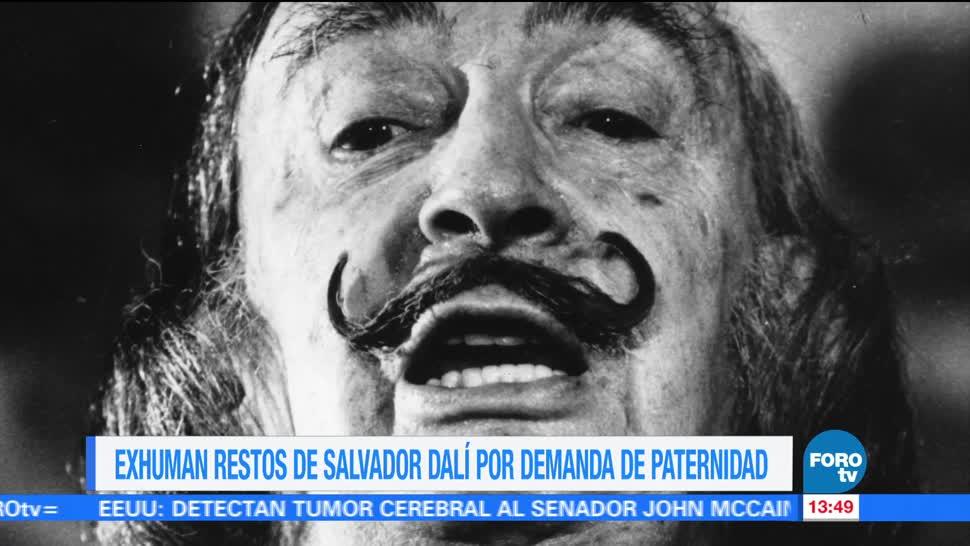 restos de Salvador Dalí, exhumados, pruebas de ADN, demanda de paternidad, España