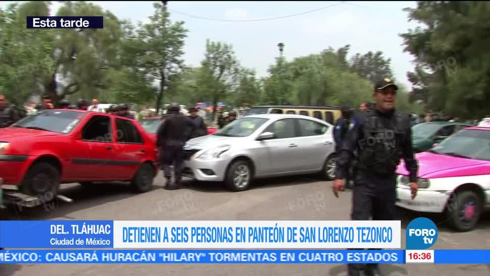 Autoridades Capitalinas Suman Seis Detenidos Panteon