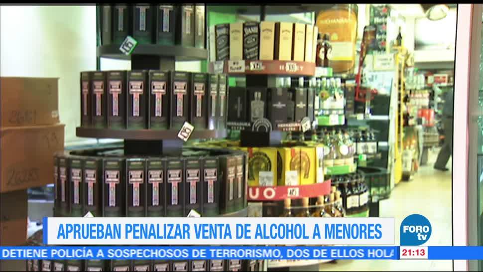 Noticiero Aprueban Penalizar Alcohol Menores CDMX