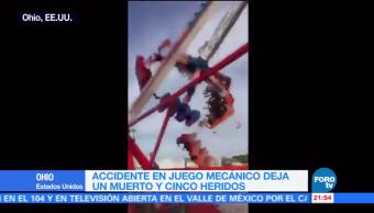 Accidente Juego Mecanico Ohio Video EU