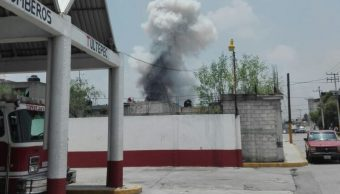 Se registra explosión en Tultepec. (Twitter hermes)