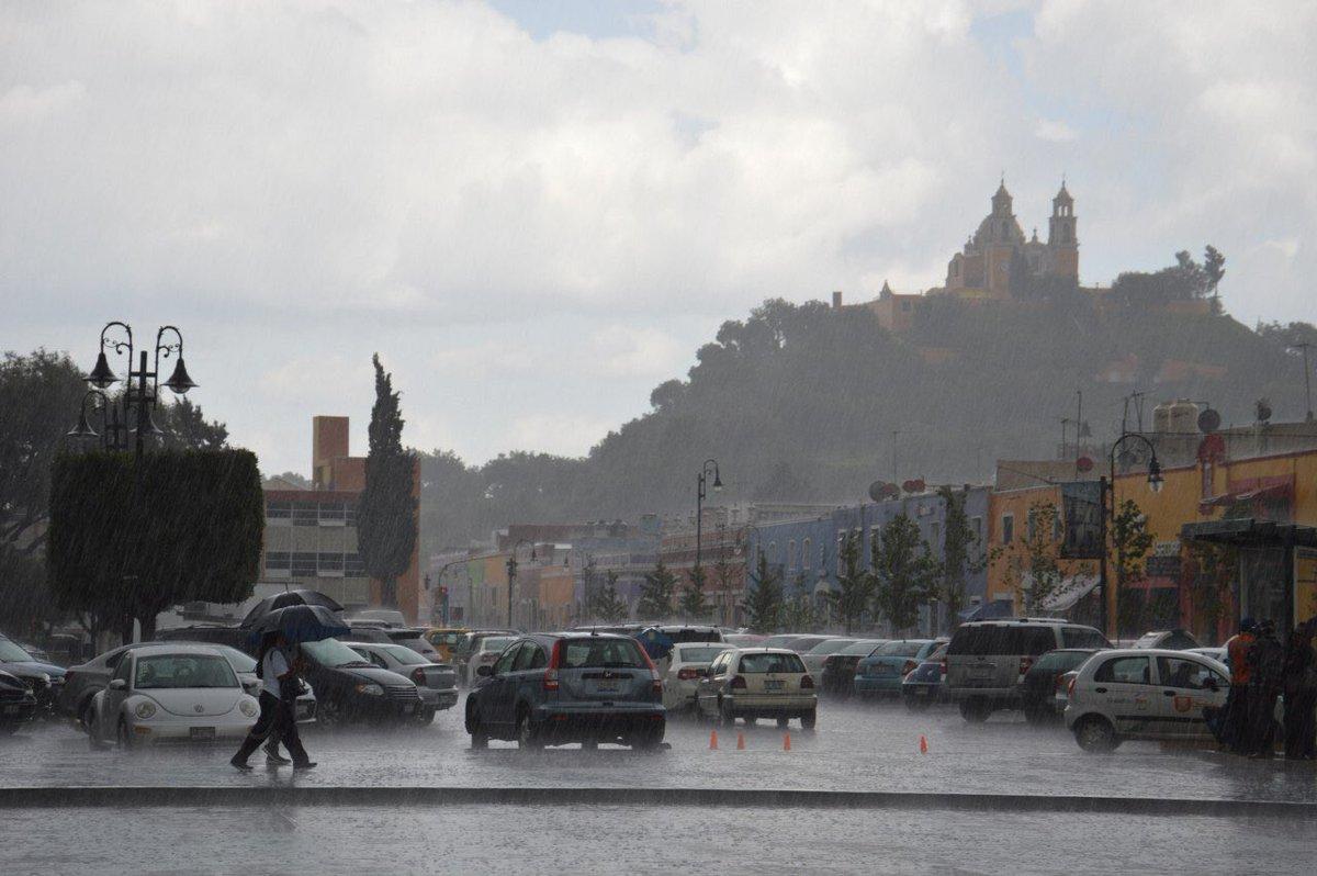 Lluvia en San Pedro Cholula