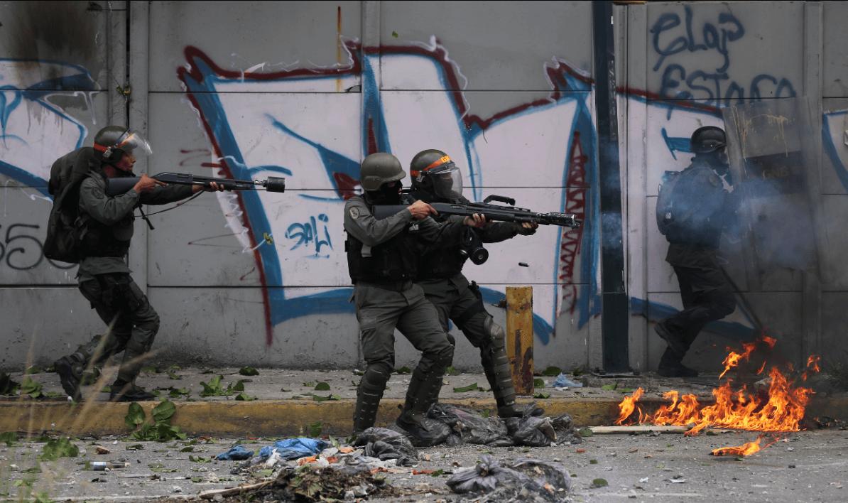Miembros de la Guardia Nacional Bolivariana en Venezuela