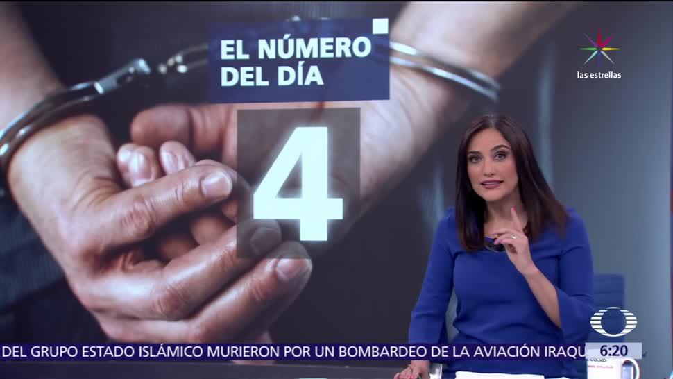 Número Día 4 Detenciones