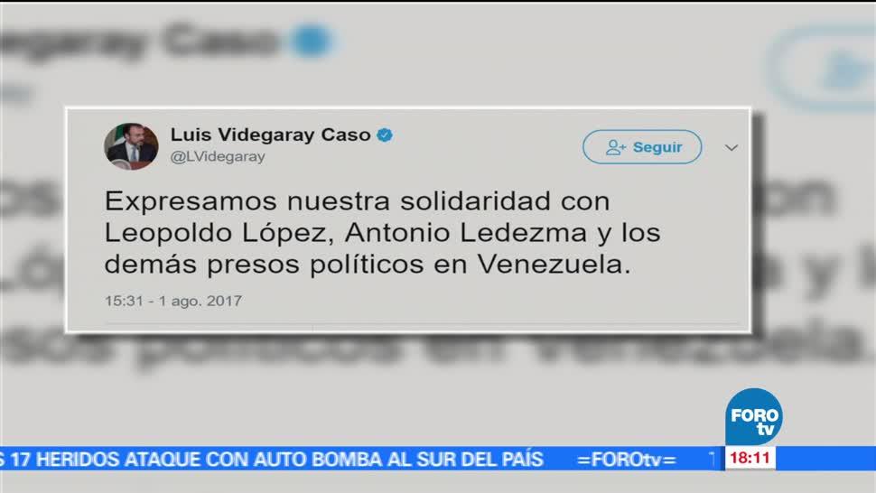 Mexico Solidariza Leopoldo Lopez Antonio Ledezma Canciller Mexicano Luis Videgaray