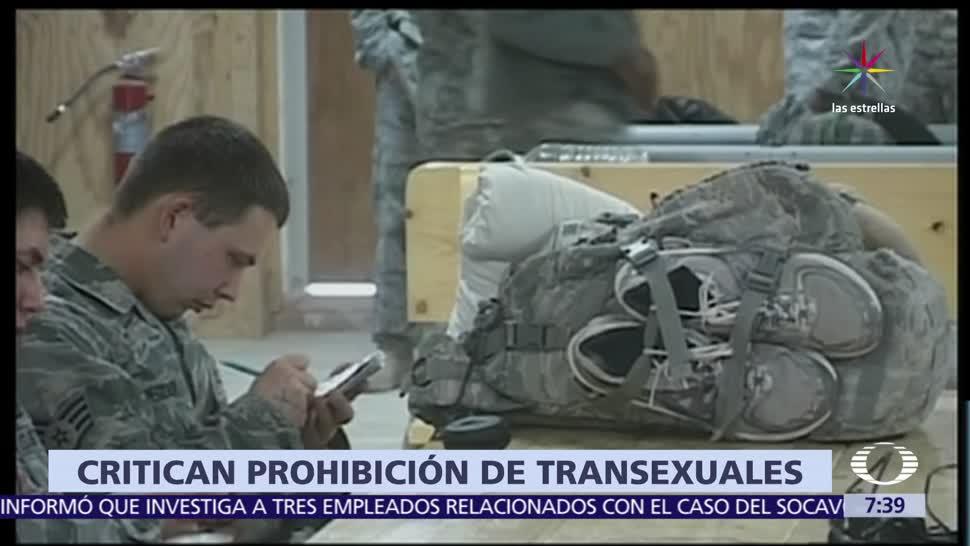 Militares retirados, critican, Trump, transgénero