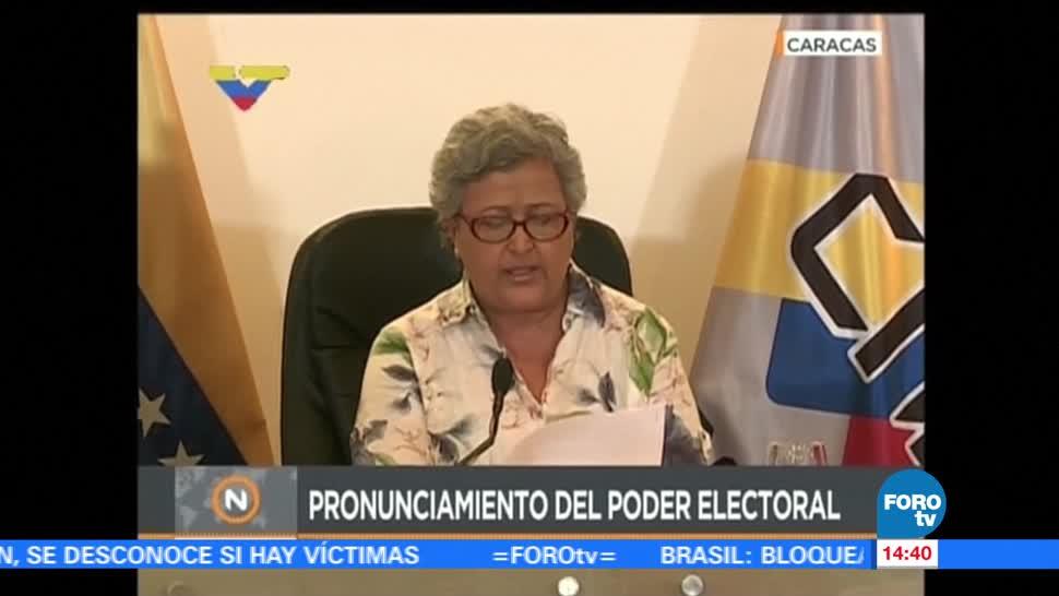 Poder electoral Venezuela desmiente fraude electoral