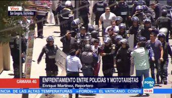 Detienen a dos personas en San Gregorio, Xochimilco