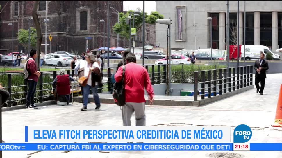 Fitch agencia eleva perspectiva crediticia México