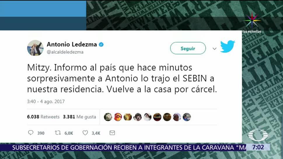 Antonio Ledezma Ramo Verde Arresto Domiciliario Carcel Militar