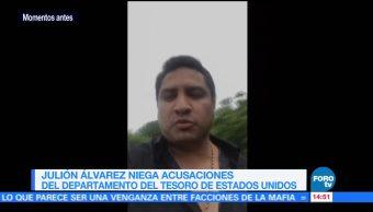 Julión Álvarez niega acusaciones Departamento Tesoro