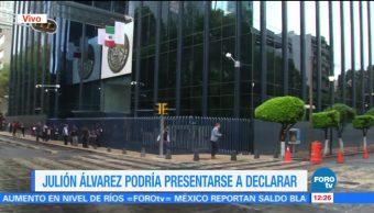 Julión Álvarez, presentarse, declarar, PGR