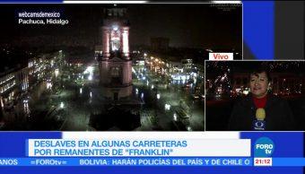 'Franklin' dejó deslaves en algunas carreteras de Hidalgo