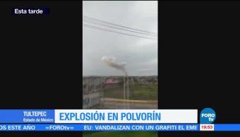 Reportan Explosion Casa Tultepec Edomex