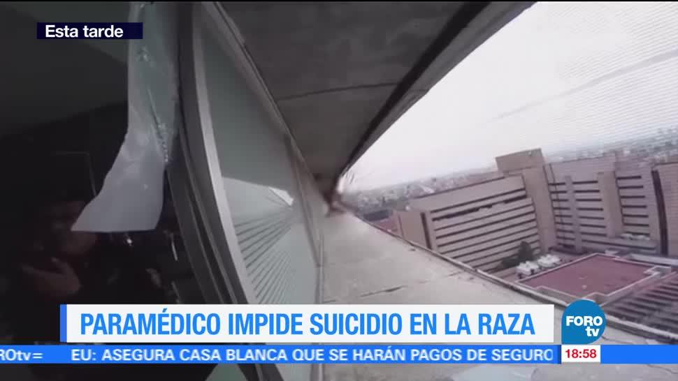 Paramédico impide suicidio de paciente en La Raza