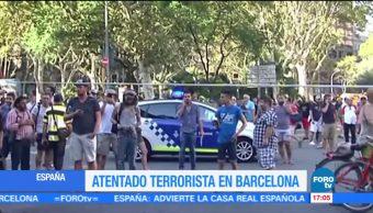 Atentado terrorista en Las Ramblas Barcelona