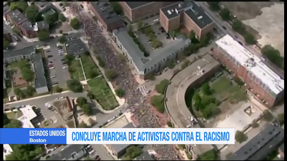 Concluye marcha de activistas contra el racismo en Boston
