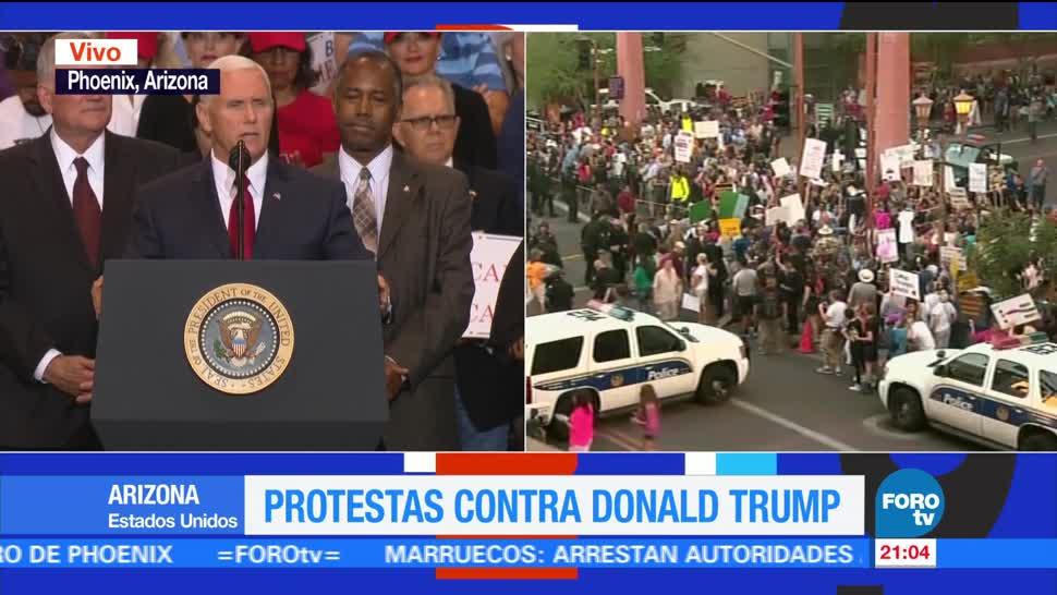 Protestas contra Trump Phoenix Cientos personas
