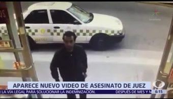 Aparece video asesinato juez Metepec