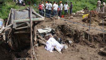 Deslizamiento de tierra en la India deja al menos 21 muertos