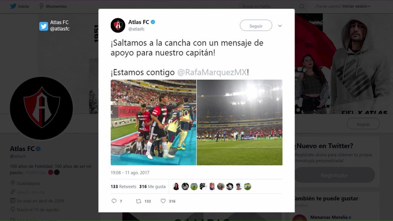 Atlas respalda a Rafa Márquez; el capitán agradece
