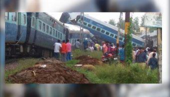 Al menos 11 muertos y 40 heridos al descarrilar tren en India
