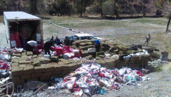 incinera toneladas de narcoticos en bc