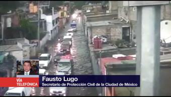 Lluvias dejan 50 inmuebles afectados en Coyoacán