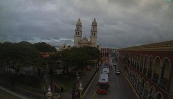 Nublados en Campeche por la tormenta Franklin