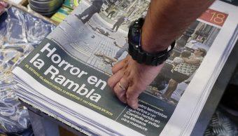 prensa mundial recoge terror atentados cataluna
