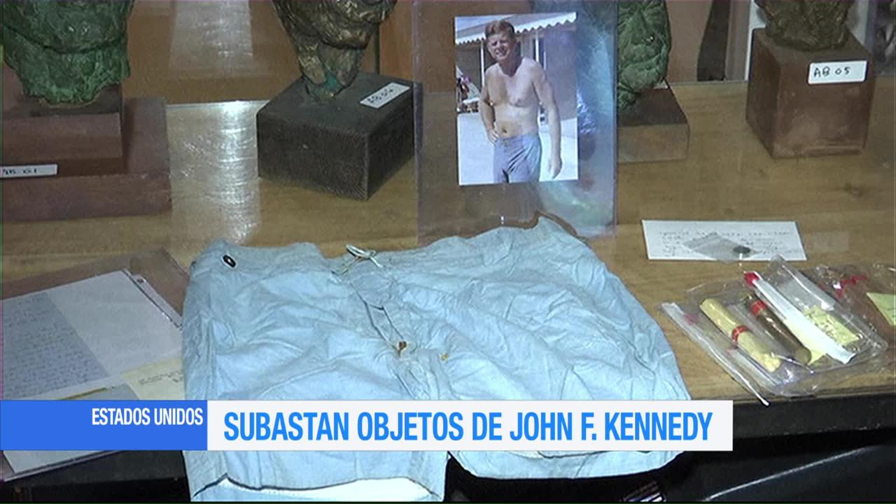 Subastan objetos de John F. Kennedy en Estados Unidos