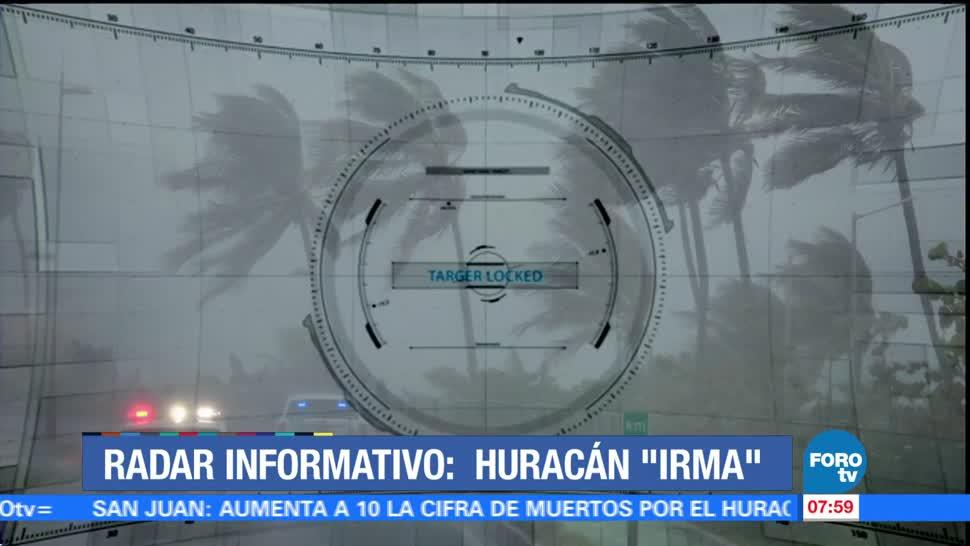 Radar informativo, huracán, Irma