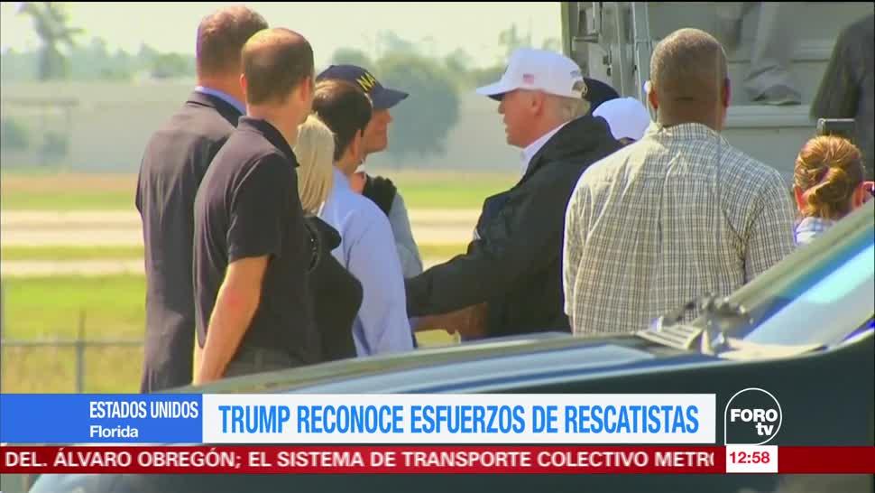 Donald Trump reconoce esfuerzo de rescatistas en Florida