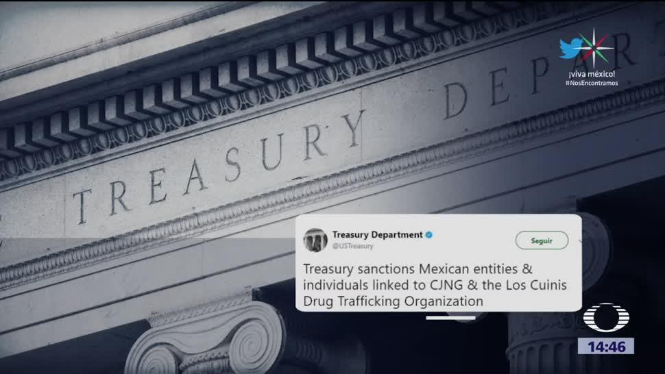 Departamento del Tesoro anuncia sanciones a empresas mexicanas