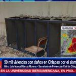 Reportan 50 mil viviendas afectadas en Chiapas por el sismo