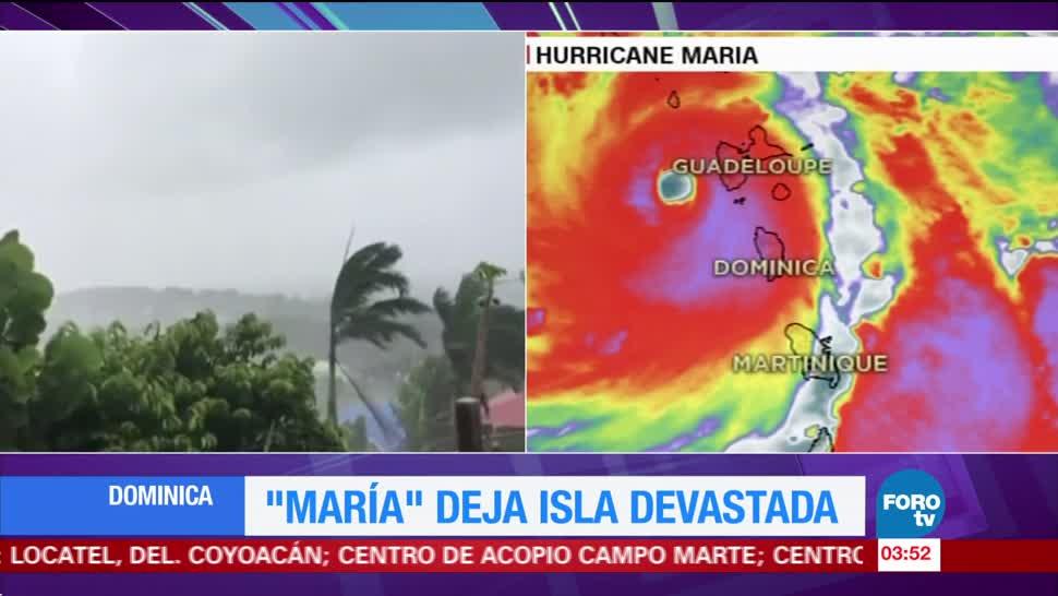 'María' deja devastación en Dominica