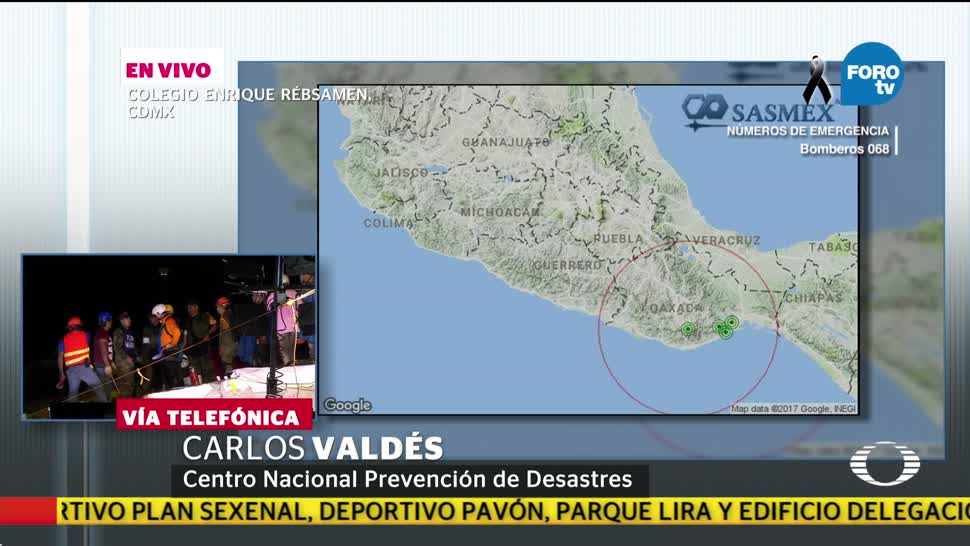 Cenapred revela que sismos en zona del Istmo son réplicas