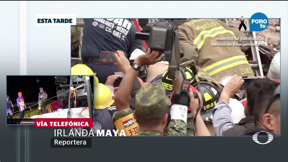 Reportan estable a hombre rescatado en Lindavista