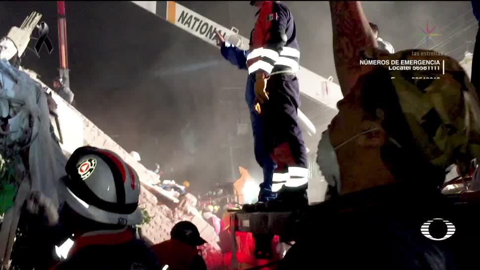 Rescatista de 57 años es pilar en operaciones tras el sismo